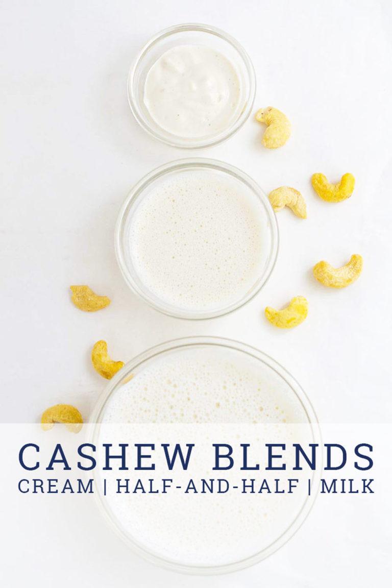 cashew cream and cashew milk
